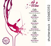 silhouette wine glass with... | Shutterstock .eps vector #410682352