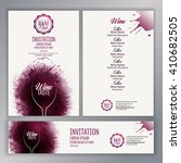 design template list  wine... | Shutterstock .eps vector #410682505