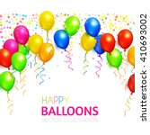 Balloons Background With...