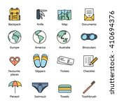 travel icons collection 2.... | Shutterstock .eps vector #410694376