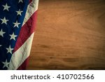 old american flag on wood... | Shutterstock . vector #410702566