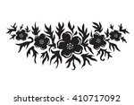 black and white floral... | Shutterstock .eps vector #410717092