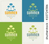 summer holidays retro... | Shutterstock .eps vector #410724586