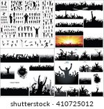 big collection of silhouettes... | Shutterstock . vector #410725012