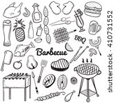 vector sketchy line art doodle... | Shutterstock .eps vector #410731552