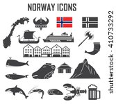 norway icon set. | Shutterstock .eps vector #410733292