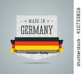 made in germany label.  | Shutterstock . vector #410733826