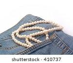 Pearls In Denim Pocket