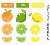 lemon lime orange | Shutterstock .eps vector #410737402