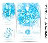 vector watercolor blue sticker... | Shutterstock .eps vector #410739466