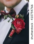 Stylish Groom And Boutonniere ...