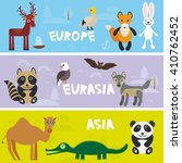 cute animals set camel...   Shutterstock .eps vector #410762452