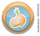 onion colorful icon | Shutterstock .eps vector #410765152