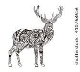 deer. hand drawn deer for adult ... | Shutterstock .eps vector #410768656