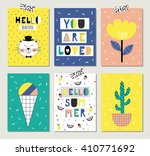 cute collection of 6 summer... | Shutterstock .eps vector #410771692