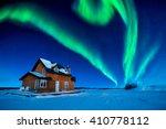 A Colorful Aurora Borealis Sky Over Great Slave Lake