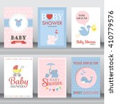happy birthday  baby shower for ... | Shutterstock .eps vector #410779576