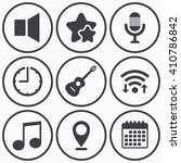 clock  wifi and stars icons.... | Shutterstock .eps vector #410786842