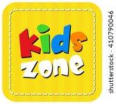 kids zone banner design over a... | Shutterstock .eps vector #410790046