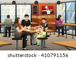 a vector illustration of happy... | Shutterstock .eps vector #410791156
