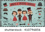 photo booth party invitations ... | Shutterstock .eps vector #410796856