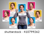 mood changes in a woman in her... | Shutterstock . vector #410799262