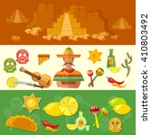 mexico banners mexican culture...   Shutterstock .eps vector #410803492