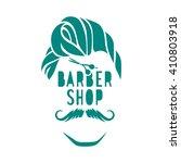 vector hipster barber shop logo ... | Shutterstock .eps vector #410803918
