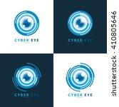 set of cyber eye symbol icon....   Shutterstock .eps vector #410805646
