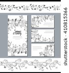 black and white template with ... | Shutterstock .eps vector #410815366