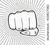 women fist with sunbursts in... | Shutterstock .eps vector #410817382
