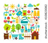 big flat vector collection of... | Shutterstock .eps vector #410823082