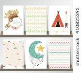 light green gold pink card...   Shutterstock .eps vector #410825392