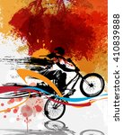 bmx  sport illustration | Shutterstock . vector #410839888