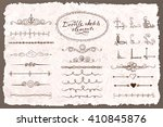 set of doodle sketch decorative ... | Shutterstock .eps vector #410845876