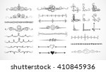 set of doodle sketch decorative ... | Shutterstock .eps vector #410845936