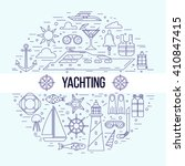 yachting concept illustration.... | Shutterstock .eps vector #410847415