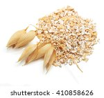oat ears of grain and bran... | Shutterstock . vector #410858626