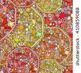 seamless pattern circular... | Shutterstock .eps vector #410859088
