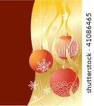 christmas card | Shutterstock .eps vector #41086465