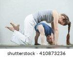 yoga baby mom    Shutterstock . vector #410873236