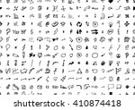 hand drawn seamless doodle... | Shutterstock .eps vector #410874418