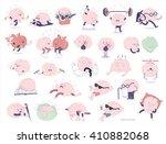 brain stickers printable set ... | Shutterstock .eps vector #410882068
