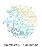 illustration of vector modern... | Shutterstock .eps vector #410882452