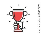 champion cup award achievement... | Shutterstock .eps vector #410882476
