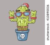 cartoon cactus | Shutterstock .eps vector #410890036