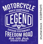 motorcycle typography  t shirt...   Shutterstock .eps vector #410894695
