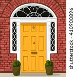 traditional yellow painted... | Shutterstock .eps vector #410900896