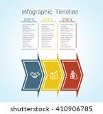 template timeline infographic... | Shutterstock .eps vector #410906785