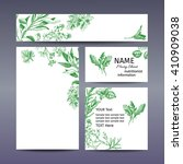 corporate style   herbs. vector ... | Shutterstock .eps vector #410909038